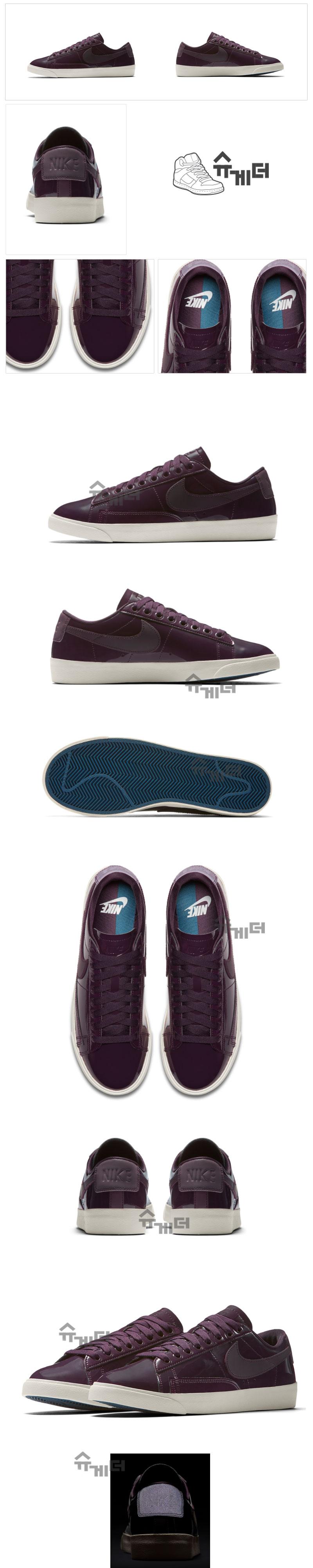 d37c0e31 나이키 우먼스 블레이저 로우 프리미엄 QS 포트와인 Nike Wmns Blazer Low PRM QS Port Wine AA1557- 600